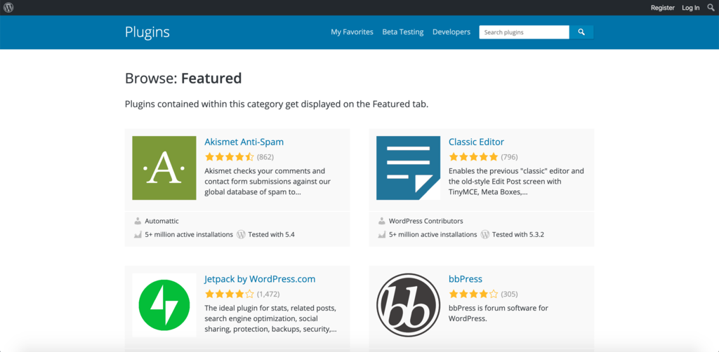 WordPress offers a huge library of plugins for all kind of tasks