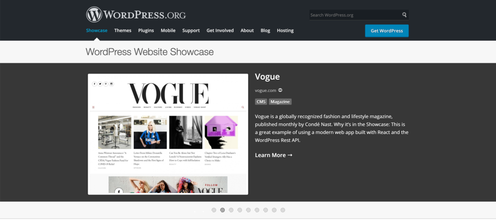 Just one of many examples on how WordPress is used by famous brands from all around the world