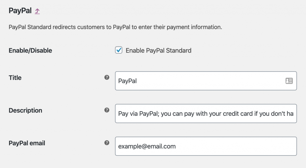Configuring PayPal on WooCommerce