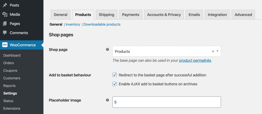 Create Shop Page on WooCommerce