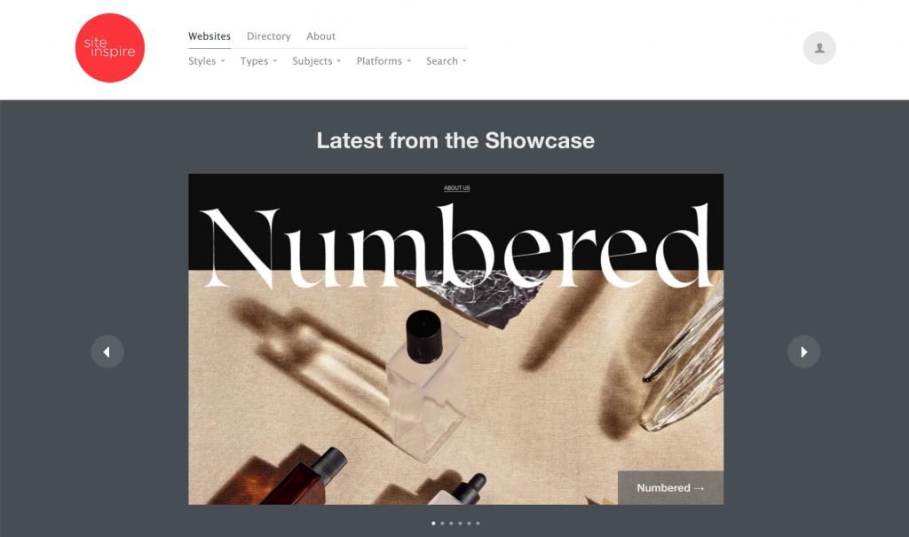 siteInspire, thư viện các mẫu thiết kế website