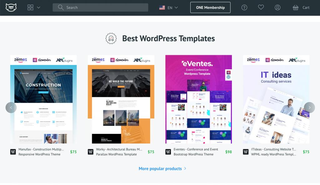 TemplateMonster ý tưởng design web