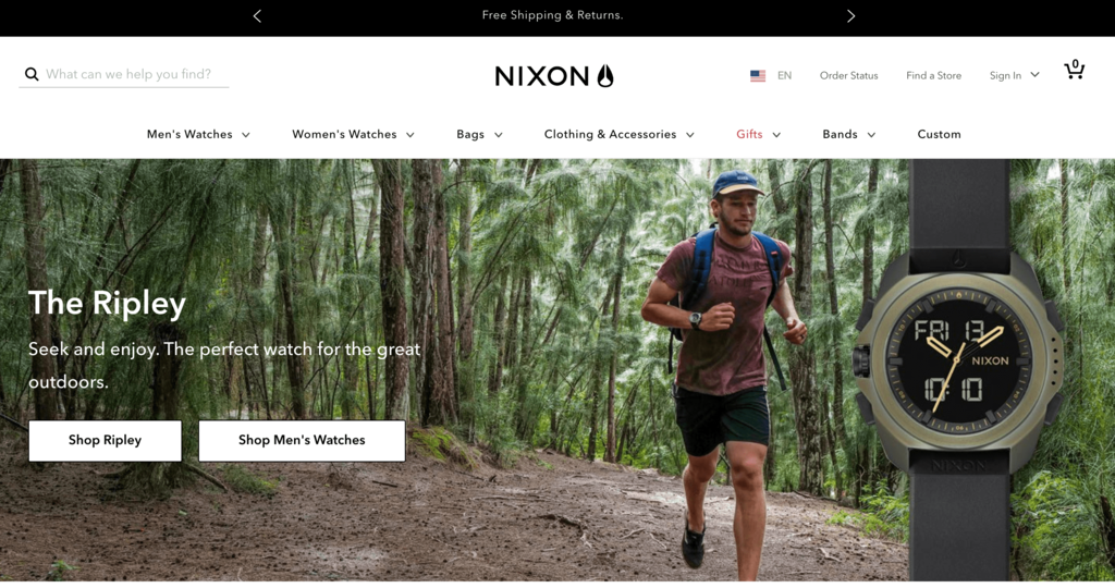 Nikon ecommerce website
