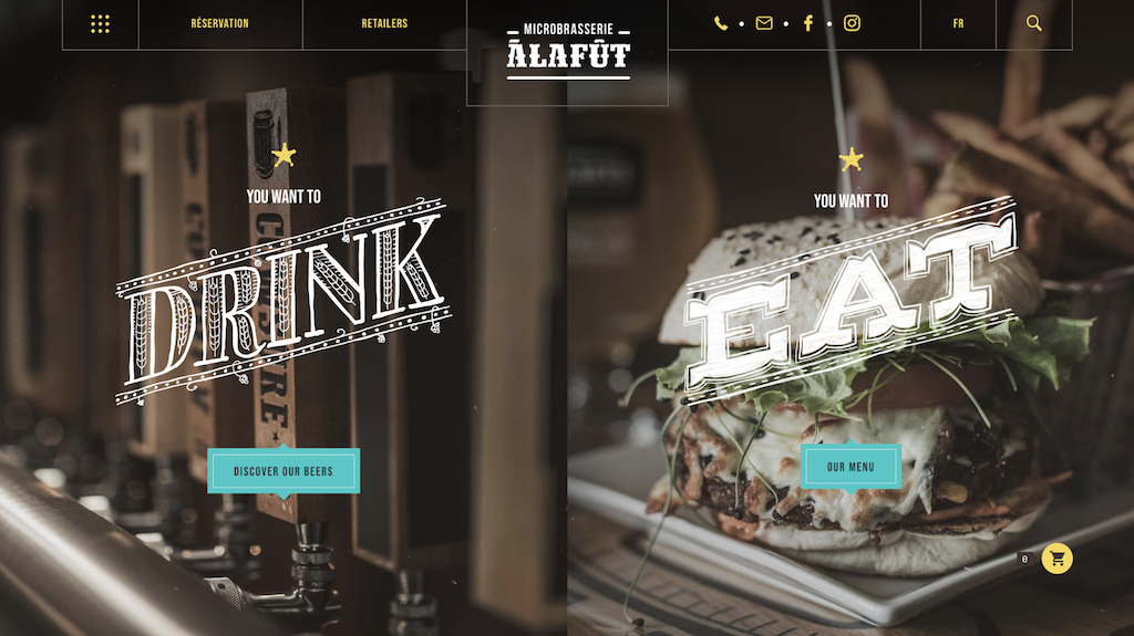 Microbrasserie ecommerce website examples