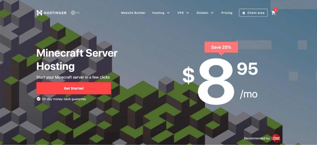 Minecraft server hosting with Hostinger.