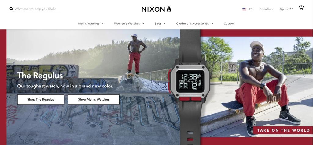 ecommerce web design Nixon website