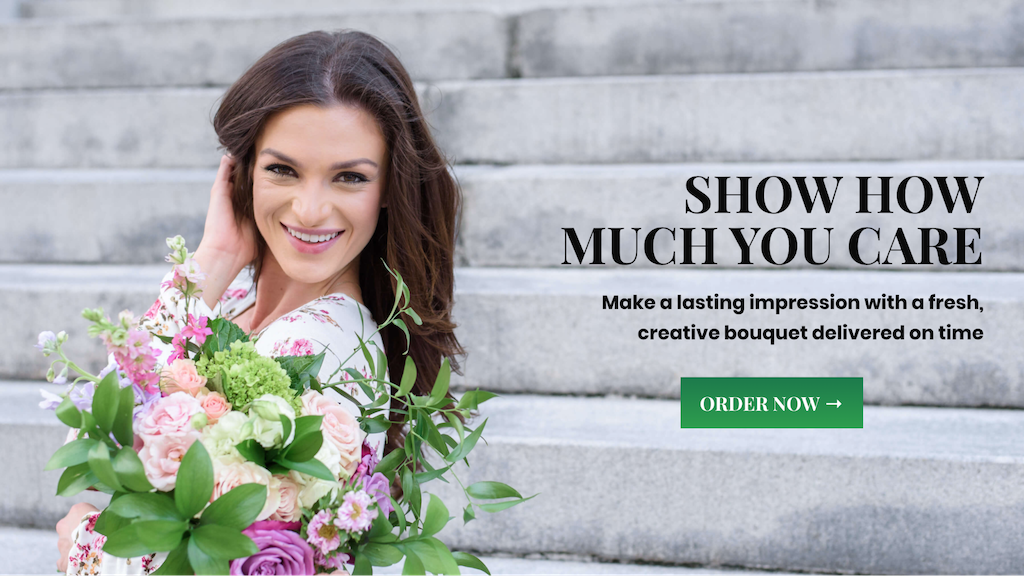 Show how much you care florist ecommerce website example