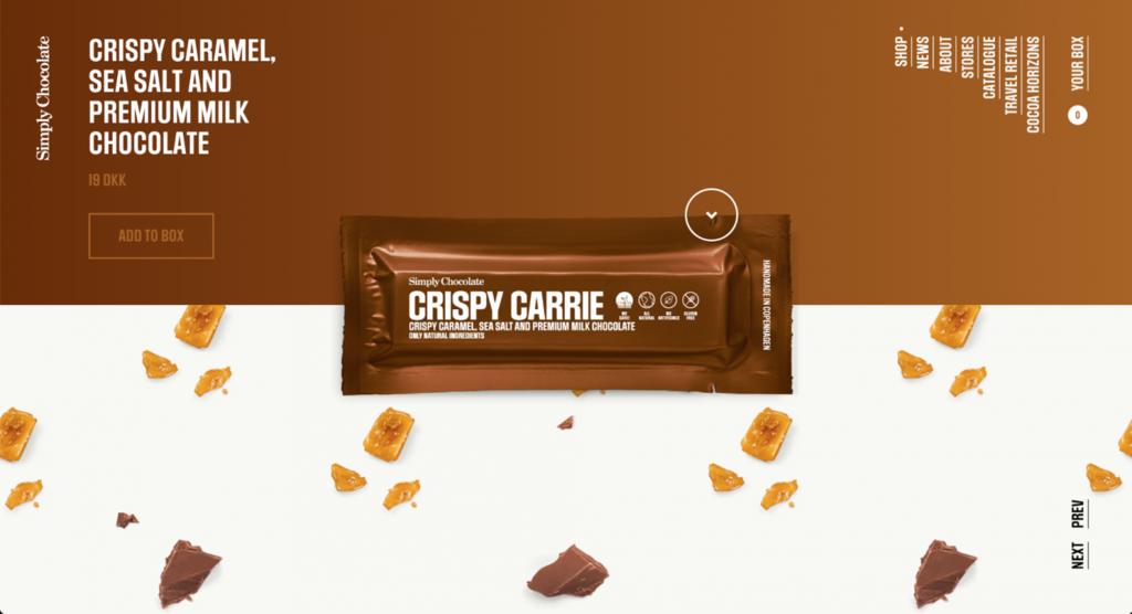 website thương mại điện tử simply chocolate
