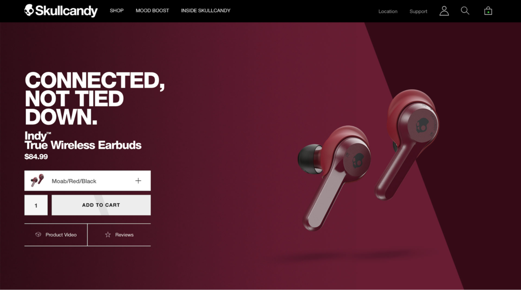 Skullcandy ecommerce website examples