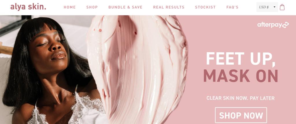 Alya Skin australian skincare B2C ecommerce case study micro influencer