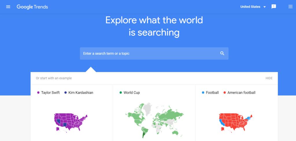 Cập nhật xu hướng bằng Google Trends