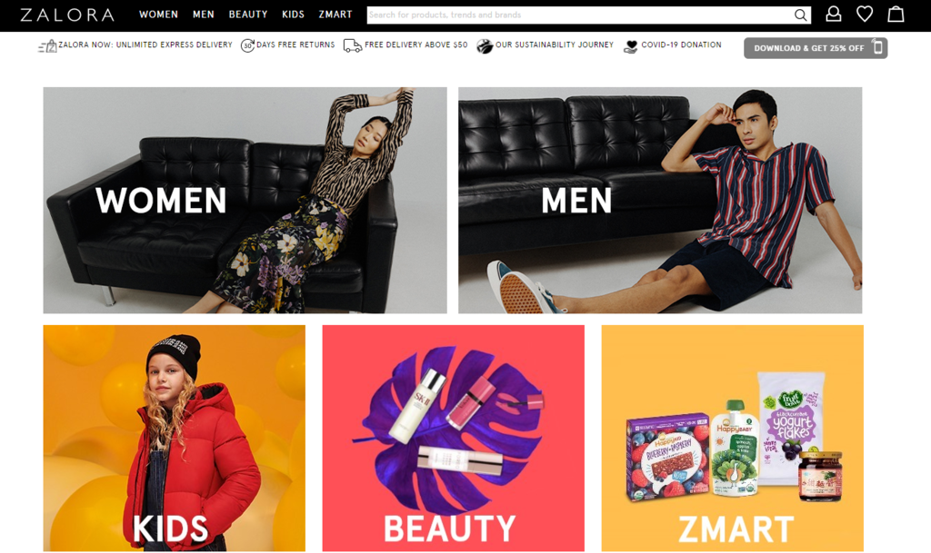 Zalora B2C eCommerce case study cloud hosting