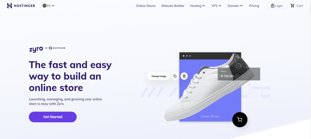 Zyro online store builder by Hostinger eCommerce
