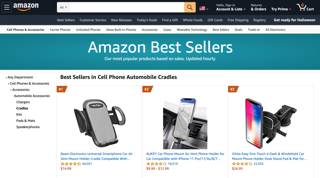 Trending Car Phone Holders on Amazon