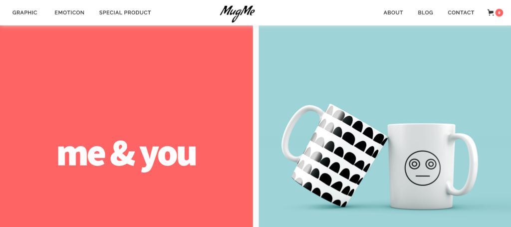 MugMe template demo.