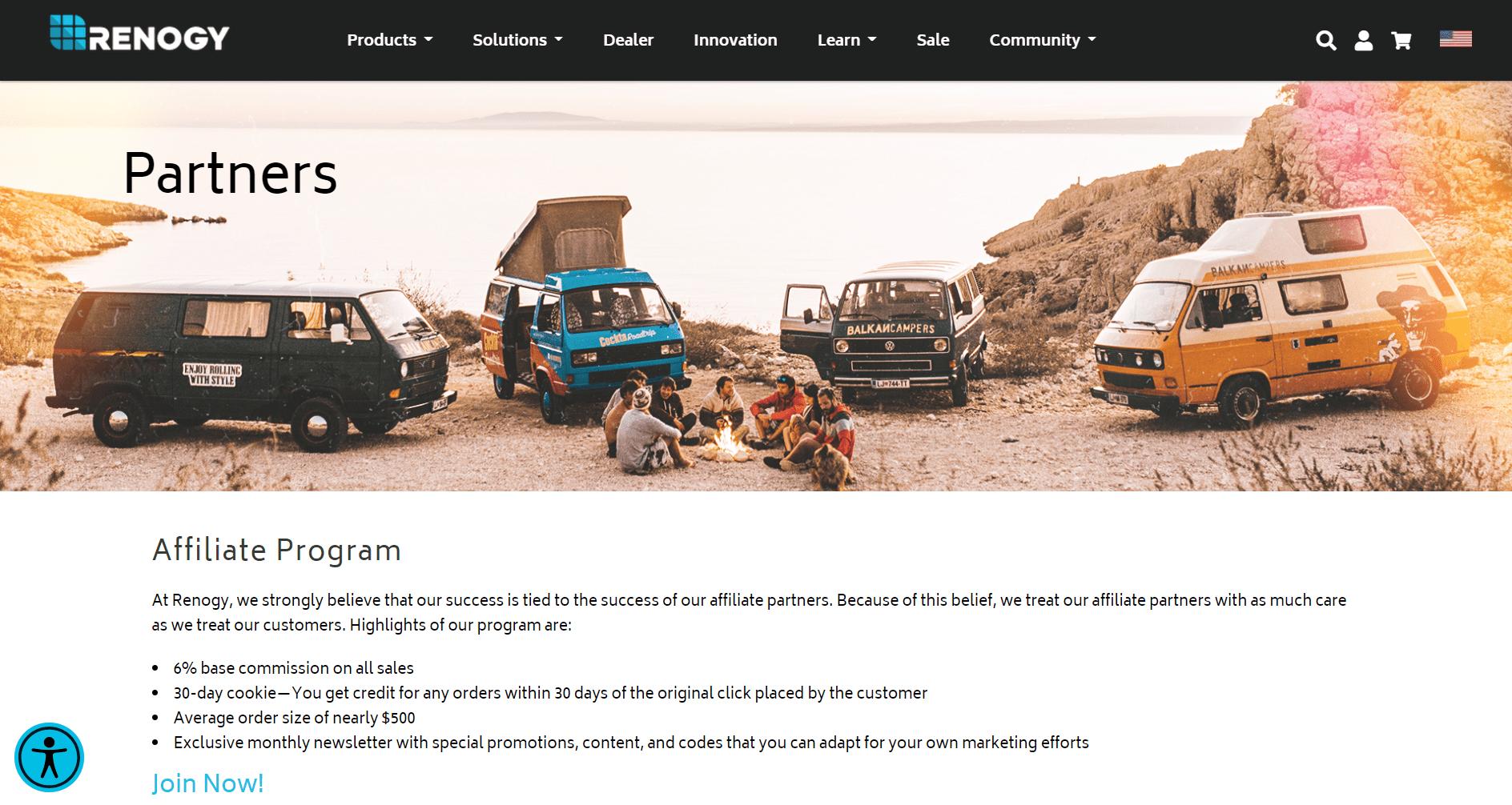 Renogy's homepage