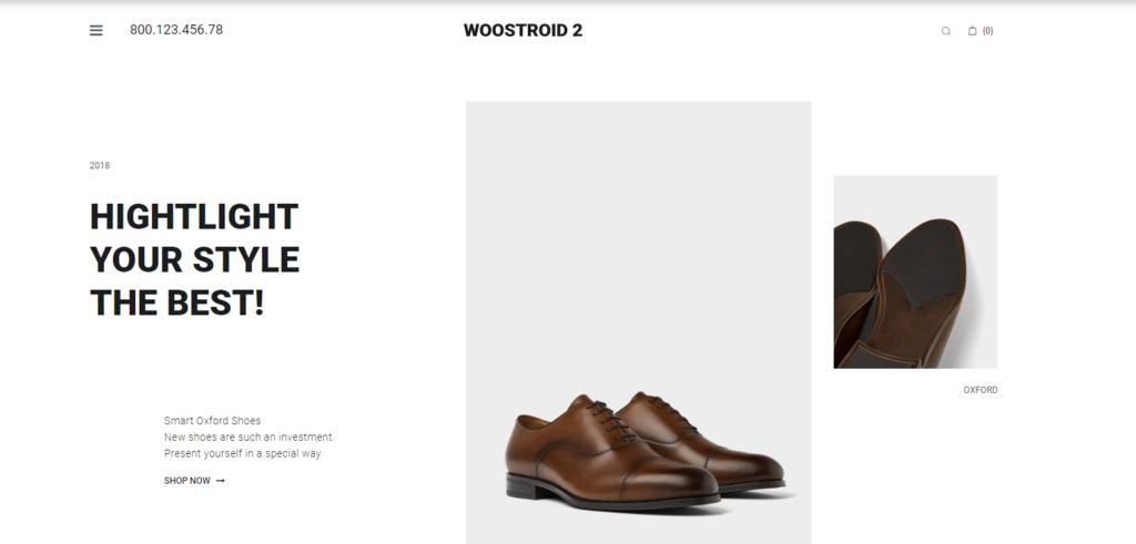 Woostroid2 theme demo