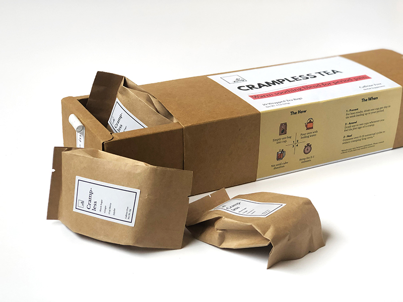 Product photo that includes packaging