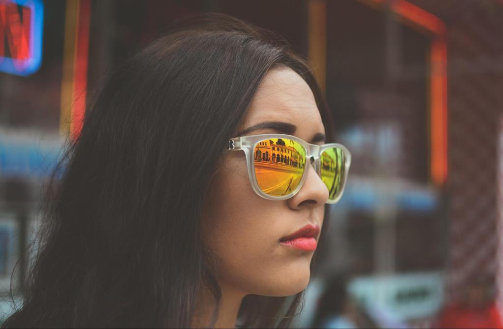 Illustration of reflection on sunglasses