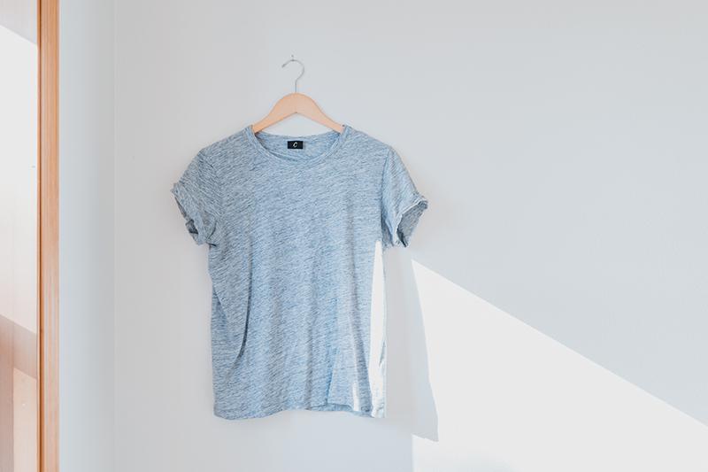 Hanged t-shirt product photo
