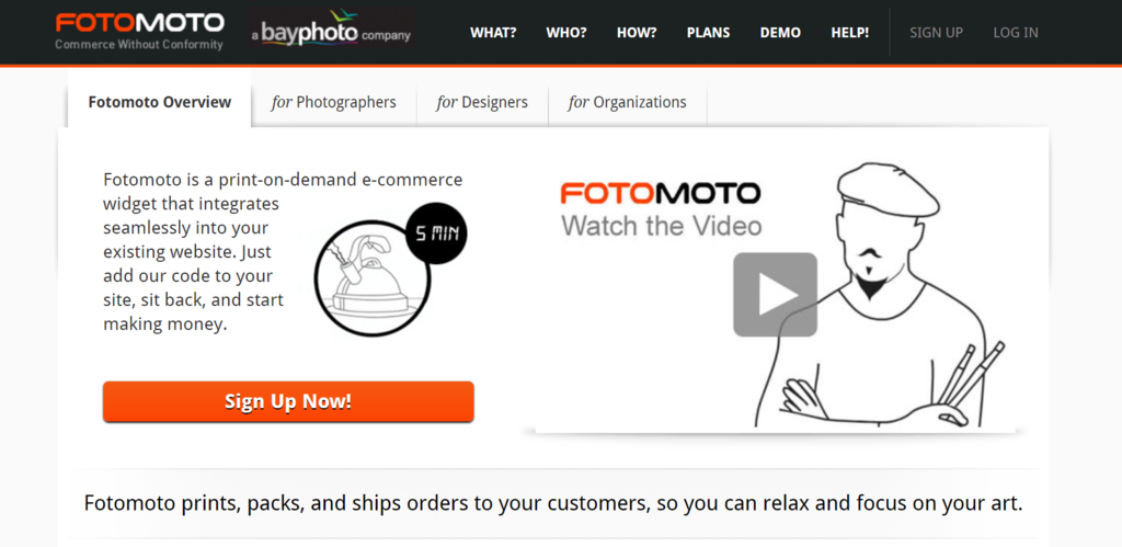 FotoMoto website