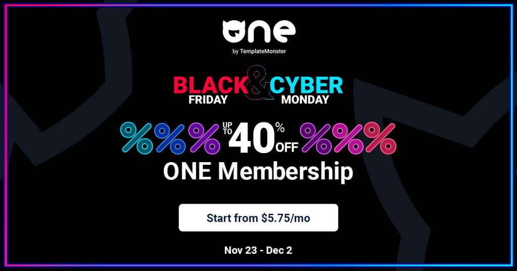 TemplateMonster's Black Friday sale page.