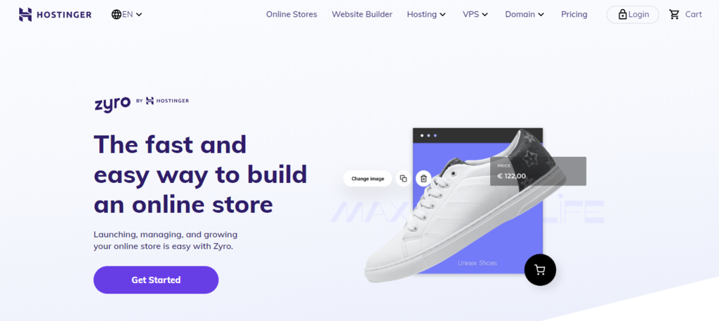zyro website builder for selling t-shirts online