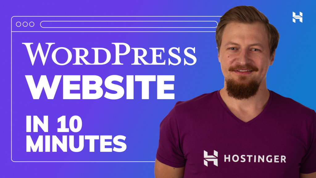 How to Create a Website in 10 Minutes – WordPress Tutorial