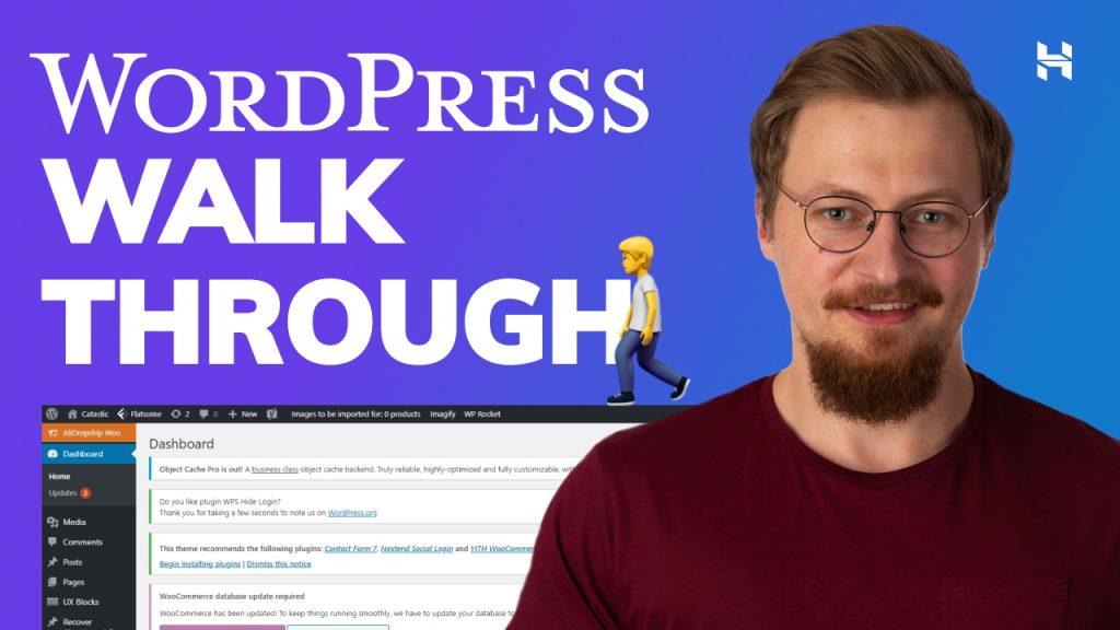 WordPress Dashboard Walk Through for Beginners