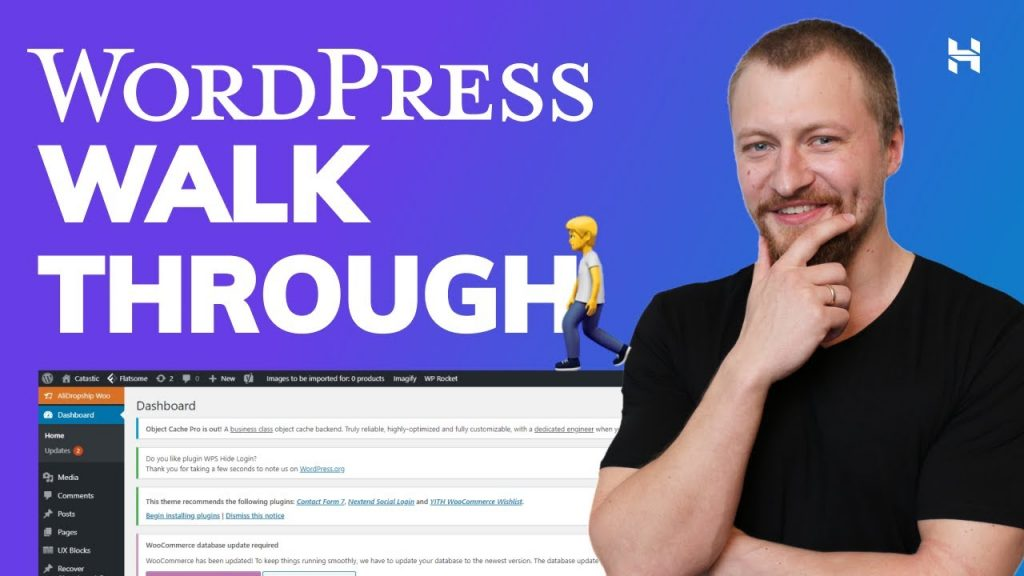 WordPress Dashboard Walk Through for Beginners