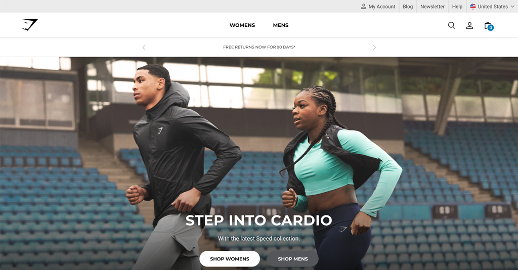 Gymshark homepage