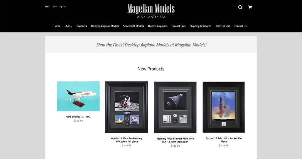 magellan models homepage