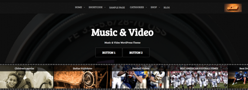 tema para WordPress Music and Video