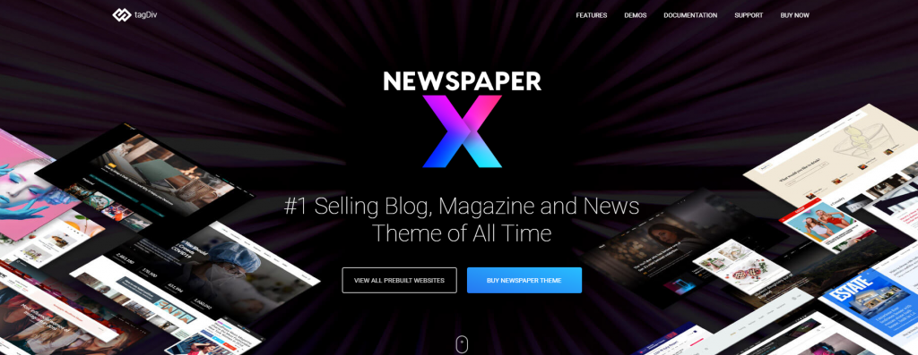 tema Newspaper para WordPress