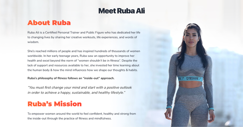 Homepage of Ruba Ali