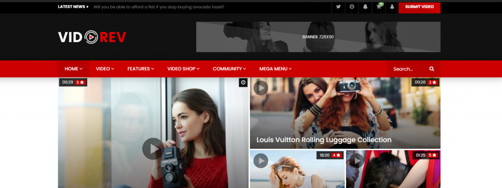 tema wordpress VideoRev