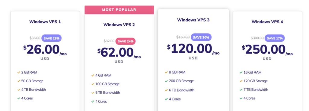 Hostinger's Windows hosting prices