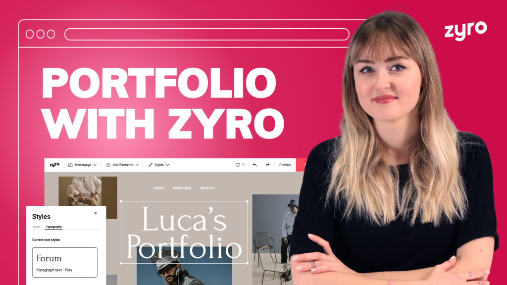 How to Make a Portfolio Website With Zyro | Simple & Easy