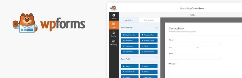 WP Forms Lite WordPress contact form plugin