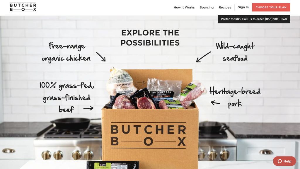 đăng ký mua hàng dạng subscription của cửa hàng thịt