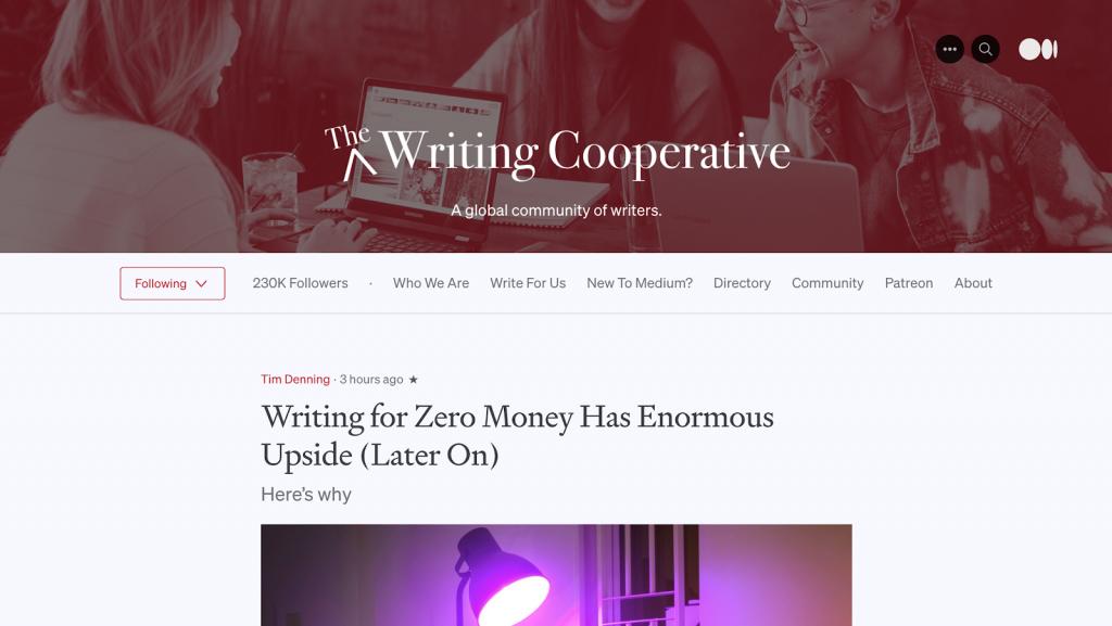 exemplo de blog reverso the writing cooperative