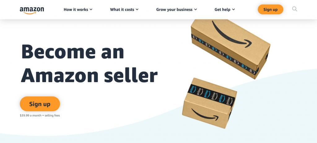 Homepage of Amazon
