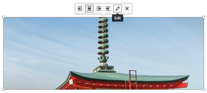 Accessing editing setting of an image through WordPress