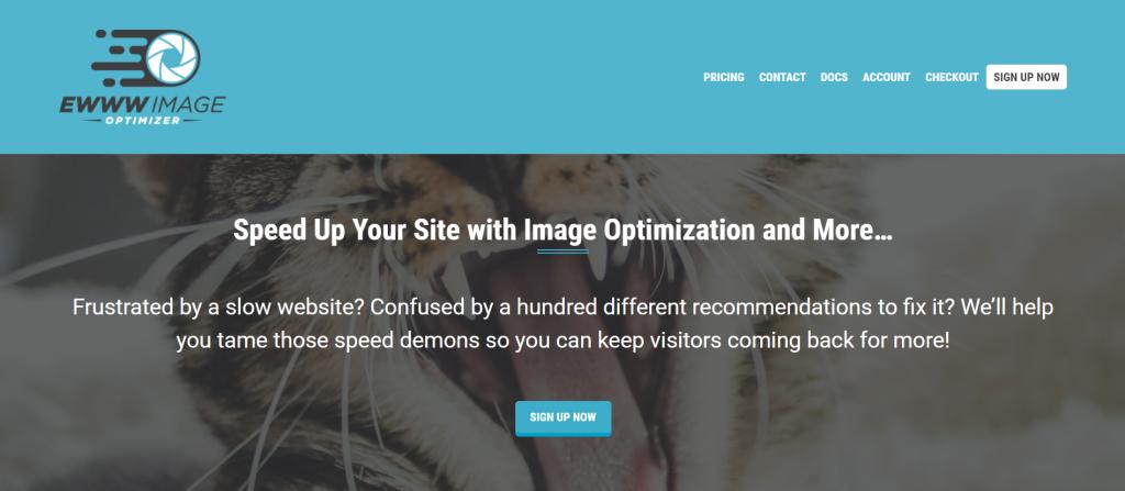 Ewww Image Optimizer homepage