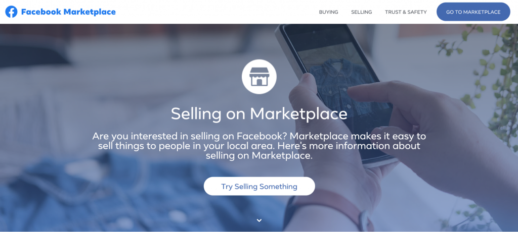 Facebook Marketplace homepage