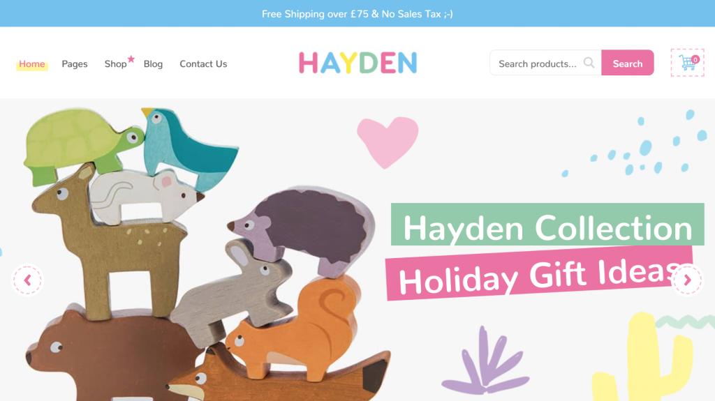 Homepage of Hayden