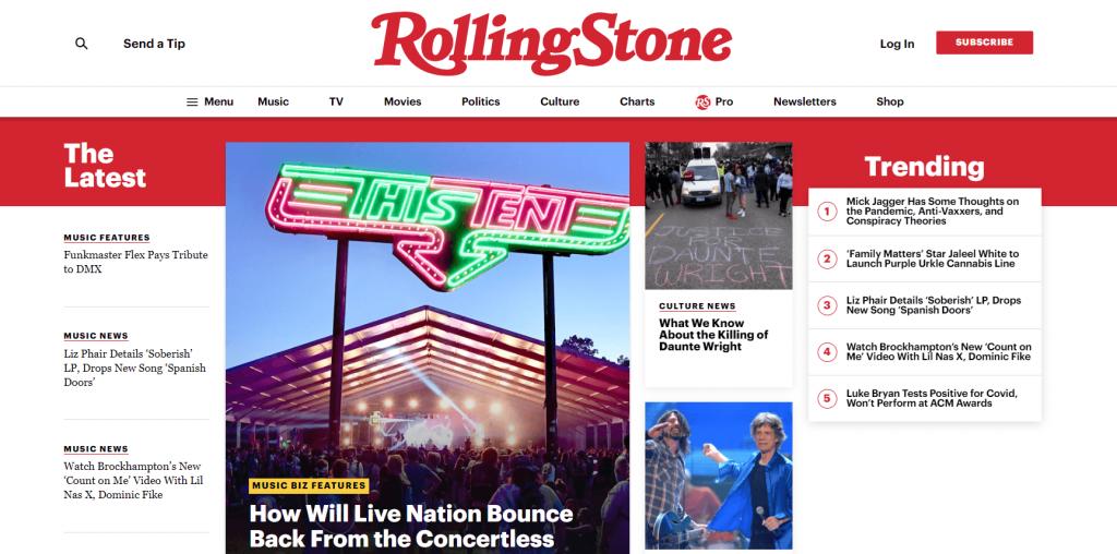 Rolling Stone magazine website