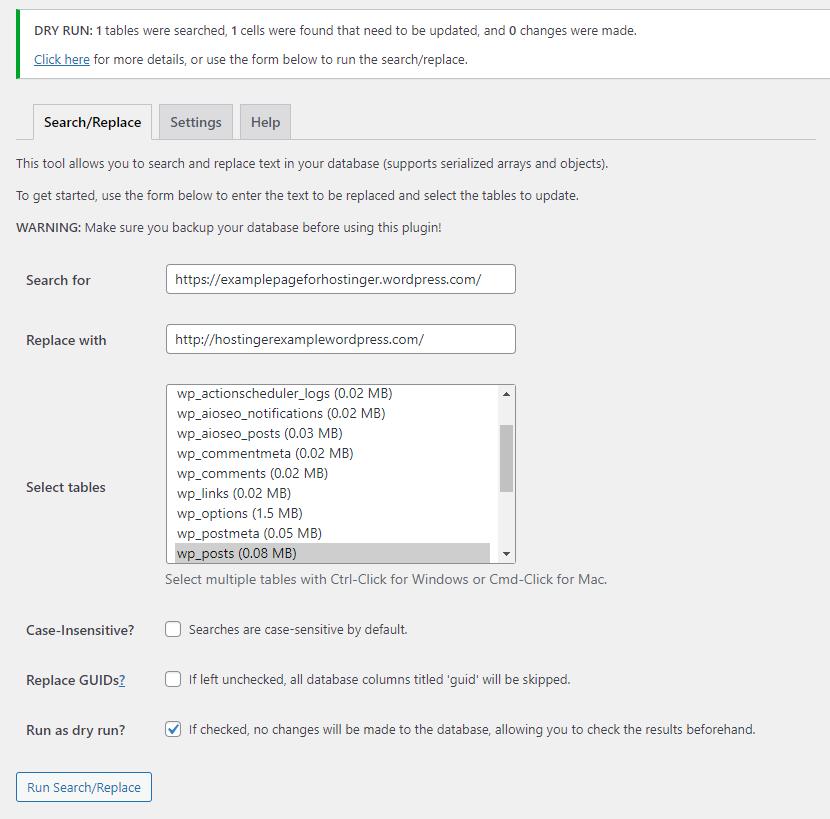 change URLs with wp_posts