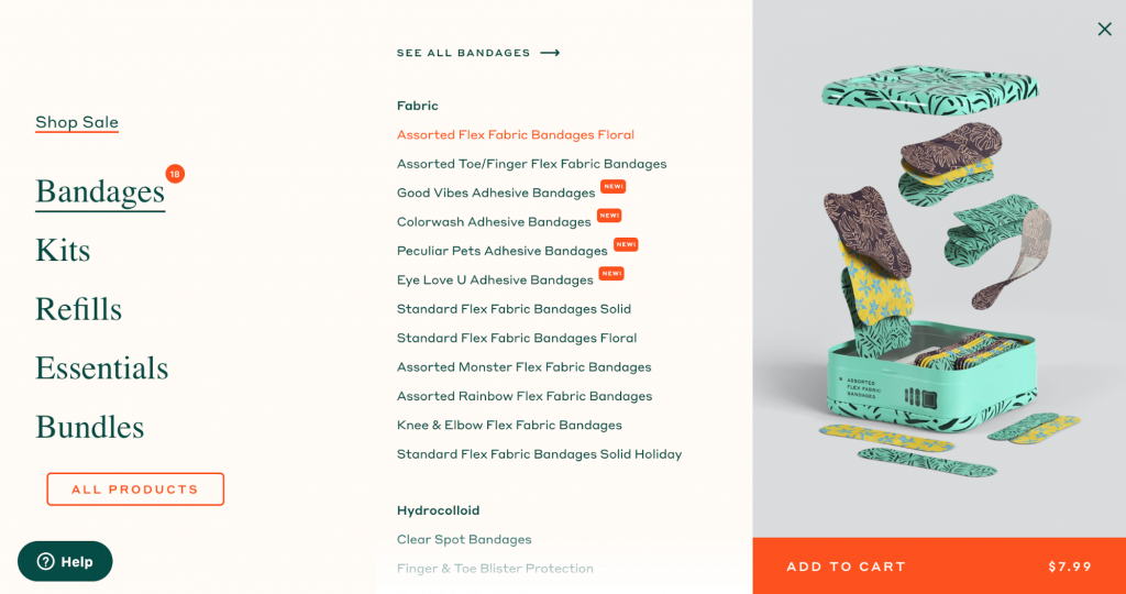 Homepage of the brand Welly