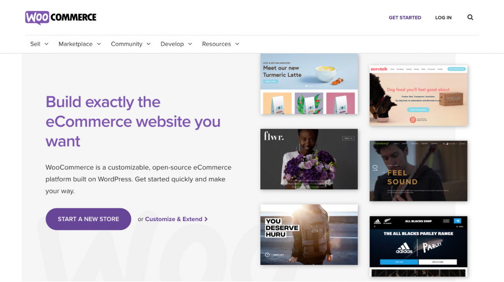Homepage of WooCommerce, an eCommerce plugin for WordPress